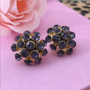Jewelry - 🍇 Gorgeous purple and gold cluster stud earrings